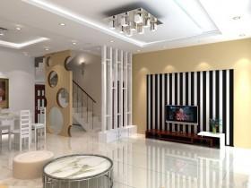 现代客厅隔断装饰图片