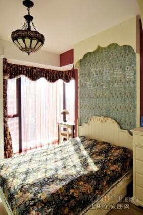 二居田园风格卧室装修图片
