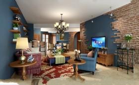 地中海风格客厅电视背景墙装修效果图大全