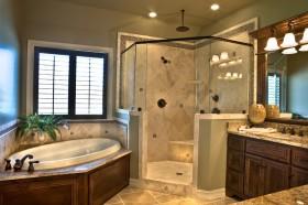 卫生间浴缸装修实景图