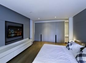 极简主义卧室电视墙图片