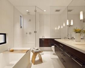现代四居卫生间装修效果图