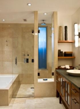 卫生间大理石瓷砖装修效果图