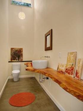长方形暖色调卫生间装修图片
