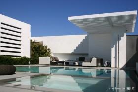 现代家居别墅泳池装修效果图