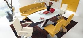 现代风格黄色餐厅效果图