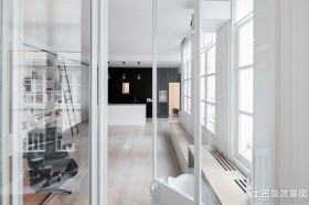 简约风格室内玻璃隔断装修效果图