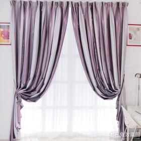 条纹餐厅窗帘效果图