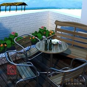 露天阳台装修图片 花园阳台