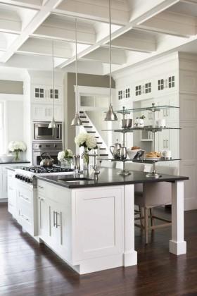 复式厨房欧式复式开放式厨房装修效果图