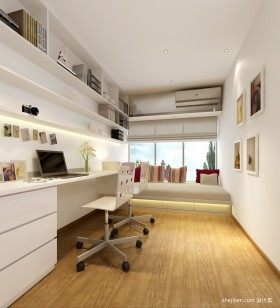现代分割书房榻榻米装修设计图片
