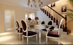 简约欧式风格装修餐厅设计效果图
