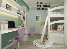 现代风格儿童房上下铺床设计图