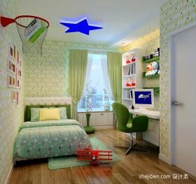 现代风格儿童房卧室装修设计效果图