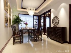 新中式风格餐厅吊顶装修效果图