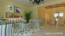 田园客厅沙发装饰图片