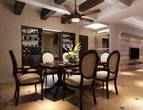 美式风格装修餐厅效果图欣赏