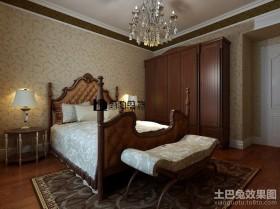 欧式三居主卧室衣柜装修设计效果图
