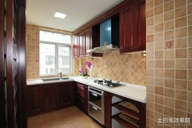 现代整体厨房效果图