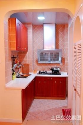 田园开放式厨房装修效果图