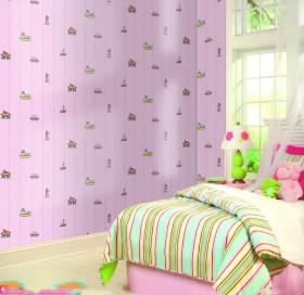 简约田园女孩儿童卧室装修效果图