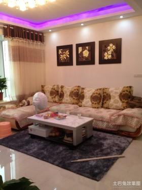 现代简约客厅沙发装饰图片