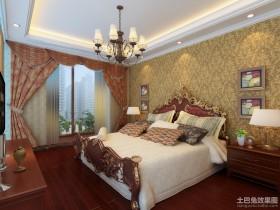 新中式卧室装饰效果图