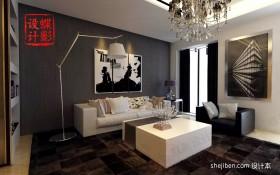 现代简约客厅沙发背景墙装饰