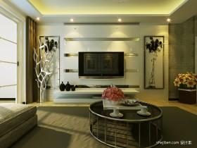 2013最新现代客厅电视背景墙装修效果图