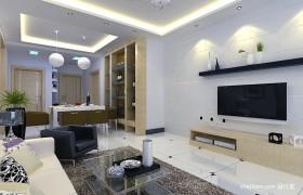 现代简约客厅电视墙装修设计