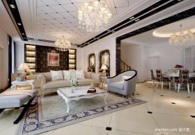 现代欧式连排别墅室内装修效果图