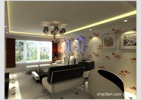 现代客厅沙发背景墙