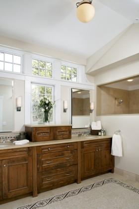 美式卫生间浴室柜图片