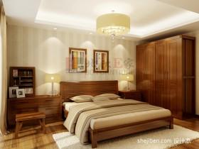 新中式三居主卧室装修效果图