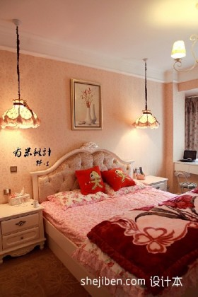 田园风格婚房卧室装修效果图