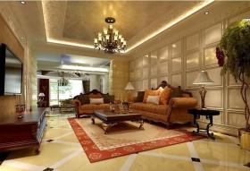 欧式风格别墅客厅正厅装修图片