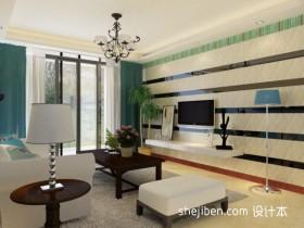 地中海风格客厅电视背景墙装修设计