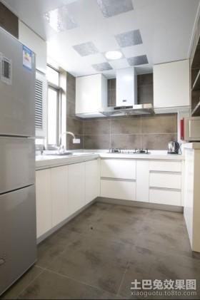 80平米橱柜80平米小户型开放式厨房装修效果图欣赏