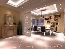 欧式三居餐厅装修效果图设计