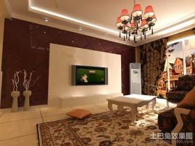新古典客厅电视墙装修效果图