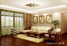 现代客厅吊顶灯装饰效果图