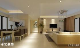现代简约客厅过道装饰设计