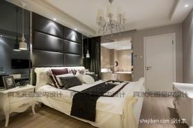 现代复式楼主卧室装修效果图