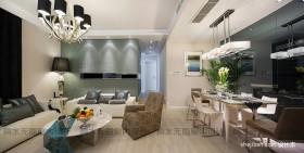 现代简约客厅餐厅一体装修