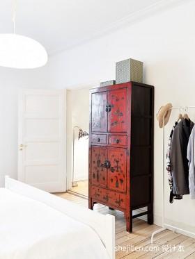 现代小户型卧室衣柜装修效果图