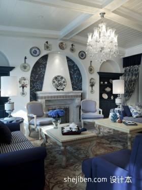 地中海客厅吊顶装饰灯设计效果图