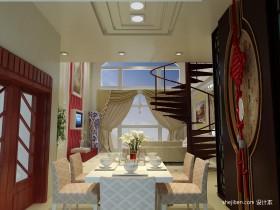 复式楼餐厅装修设计效果图