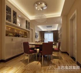 现代四居餐厅装修效果图