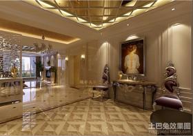 现代三居客厅休闲区地砖效果图