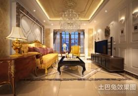 新古典主义风格客厅吊顶装修设计